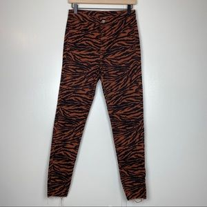 H&M Divided Tiger Stripe Ankle Pants High Rise